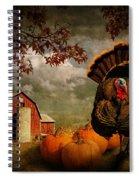 Thanksgiving Turkey Among Pumkins Spiral Notebook