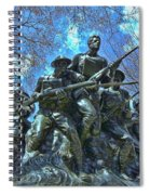The 107th Infantry Memorial Sculpture Spiral Notebook