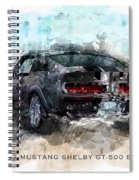 The 1967 Shelby Gt-500 Eleanor Spiral Notebook