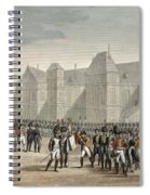 The Abdication Of Napoleon Spiral Notebook