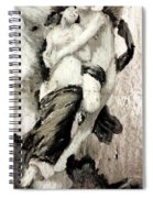 The Abduction Of Psyche By William Bouguereau Spiral Notebook