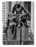 The Actor Statue Philadelphia Spiral Notebook