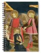 The Adoration Of The Kings And Christ On The Cross Spiral Notebook