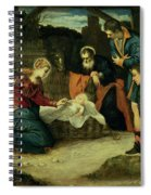 The Adoration Of The Shepherds, 1540s Spiral Notebook