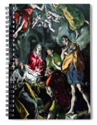 The Adoration Of The Shepherds From The Santo Domingo El Antiguo Altarpiece Spiral Notebook