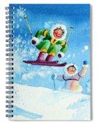 The Aerial Skier - 10 Spiral Notebook