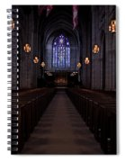 The Aisle Of Princeton Chapel Spiral Notebook
