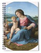 The Alba Madonna Spiral Notebook