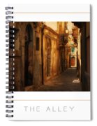 The Alley Poster Spiral Notebook