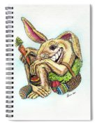 The Altered Easter Bunny Spiral Notebook