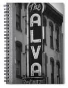 The Alva - Black And White Spiral Notebook