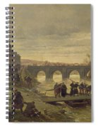 The Ambulance De La Presse At Joinville During The Siege Of Paris Oil On Canvas Spiral Notebook