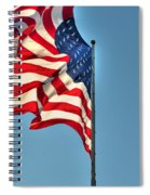 The American Flag No Retreat No Surrender  Spiral Notebook
