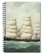 The American Ship Olive S Southard Of San Francisco In French Waters Off Le Havre Spiral Notebook