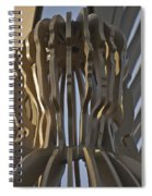 The Angel Of Bargoed Abstract Spiral Notebook