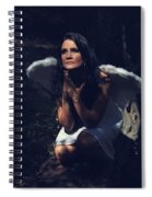 The Angel Prayed Spiral Notebook