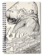 The Animal That Came Out Of The Sea And Ate Up All The Food That Suleiman-bin-daoud Had Made Ready F Spiral Notebook