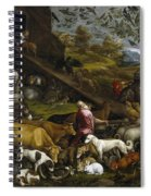The Animals Entering Noah's Ark Spiral Notebook