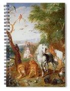 The Animals Entering Noahs Ark Panel Spiral Notebook