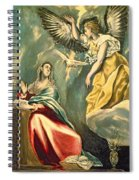 The Annunciation, C.1595-1600 Oil On Canvas Spiral Notebook