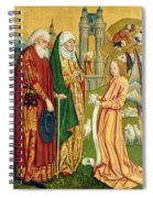 The Annunciation To Joachim And Anne, From The Dome Altar, 1499 Spiral Notebook
