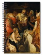 The Anointment Of David Spiral Notebook