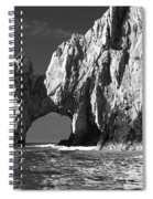The Arch Cabo San Lucas In Black And White Spiral Notebook