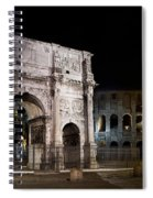 The Arch Of Constantine And The Colosseum At Night Spiral Notebook