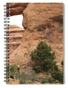 The Arches Of Double O Arch  Spiral Notebook