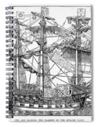 The Ark Raleigh The Flagship Of The English Fleet From Leisure Hour Spiral Notebook
