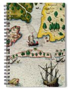 The Arrival Of The English In Virginia Spiral Notebook