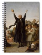 The Arrival Of The Pilgrim Fathers Spiral Notebook