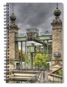 The Art Nouveau Ships Elevator - Portal View Spiral Notebook