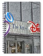 The Art Of Disney Signage Selective Coloring Digital Art Spiral Notebook