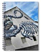 The Artist Roa At Work  Spiral Notebook
