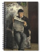 The Artists Father Reading L Evenement Spiral Notebook