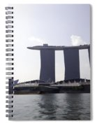 The Artscience Musuem And The Marina Bay Sands Resort In Singapore Spiral Notebook
