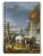 The Attack And Taking Of Ratisbon, 23rd April 1809, 1810 Oil On Canvas Spiral Notebook