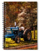 The Autumn Blues Spiral Notebook