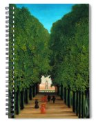 The Avenue In The Park At Saint Cloud    Spiral Notebook