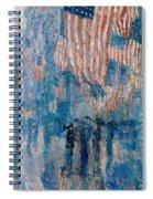 The Avenue In The Rain Spiral Notebook