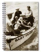 The Baby Flyer With Ed Ricketts And John Steinbeck  In Sea Of Cortez  1940 Spiral Notebook