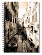 The Back Canals Of Venice Spiral Notebook