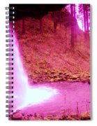 The Backside Of Little Pony Falls  Spiral Notebook