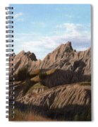 The Badlands In South Dakota Oil Painting Spiral Notebook