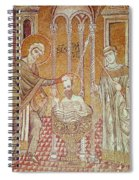 The Baptism Of St. Paul By Ananias, From Scenes From The Life Of St. Paul Mosaic Spiral Notebook