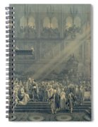 The Baptism Of The King Of Rome 1811-32 At Notre-dame, 10th June 1811, After 1811 Engraving Spiral Notebook