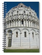 The Baptistery In Pisa  Spiral Notebook