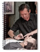 The Barber Shaves Another Customer 02 Spiral Notebook