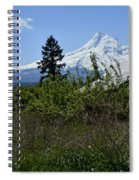 The Barn And  Mt. Hood Spiral Notebook